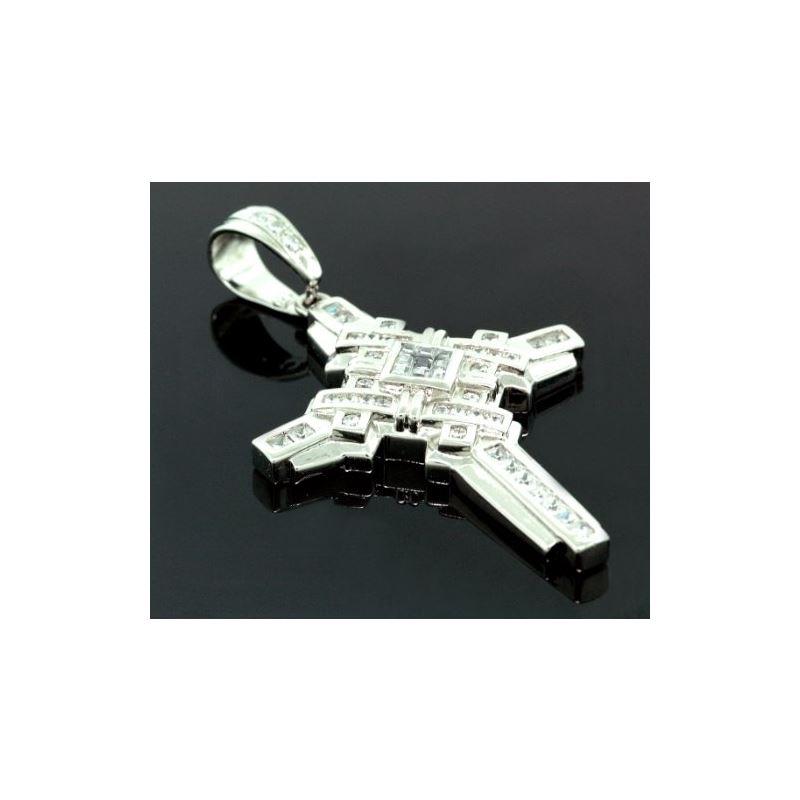 .925 Sterling Silver Men Crystal Stone M 58539 1