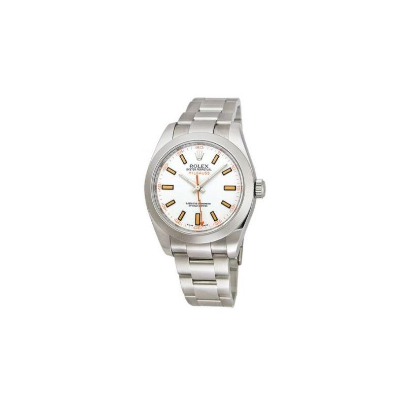 Rolex Oyster Perpetual Milgauss Mens Wat 53748 1