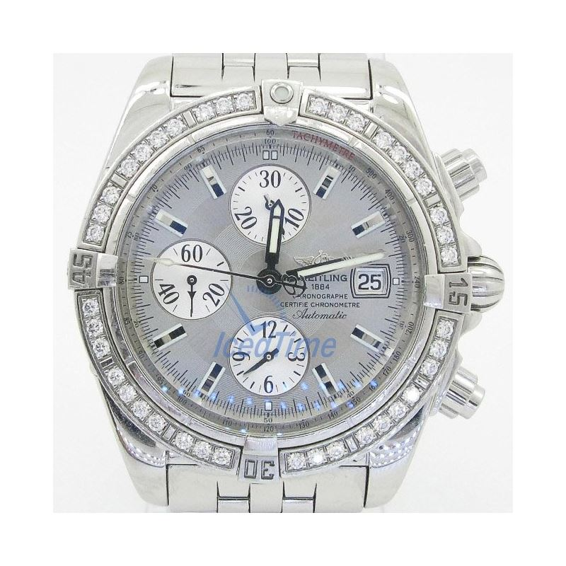 Breitling Chronomat Evolution Rhodium Dial Diamond