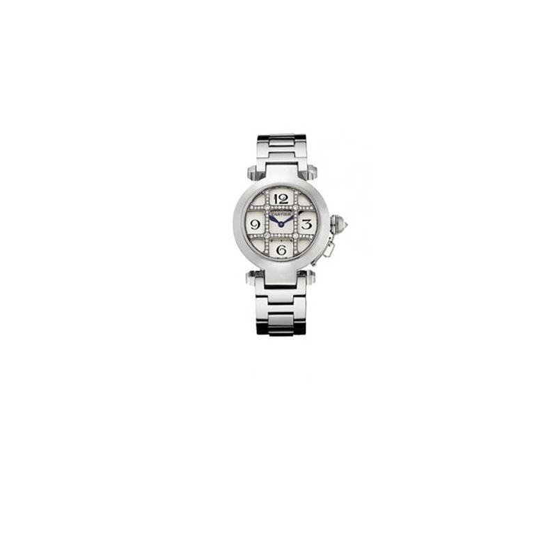 Cartier Pasha Diamond 18kt White Gold Ladies Watch