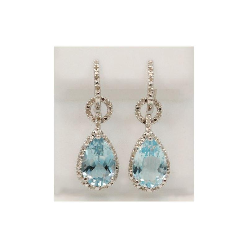 Sterling Silver Gemstone European Drop Earrings TR