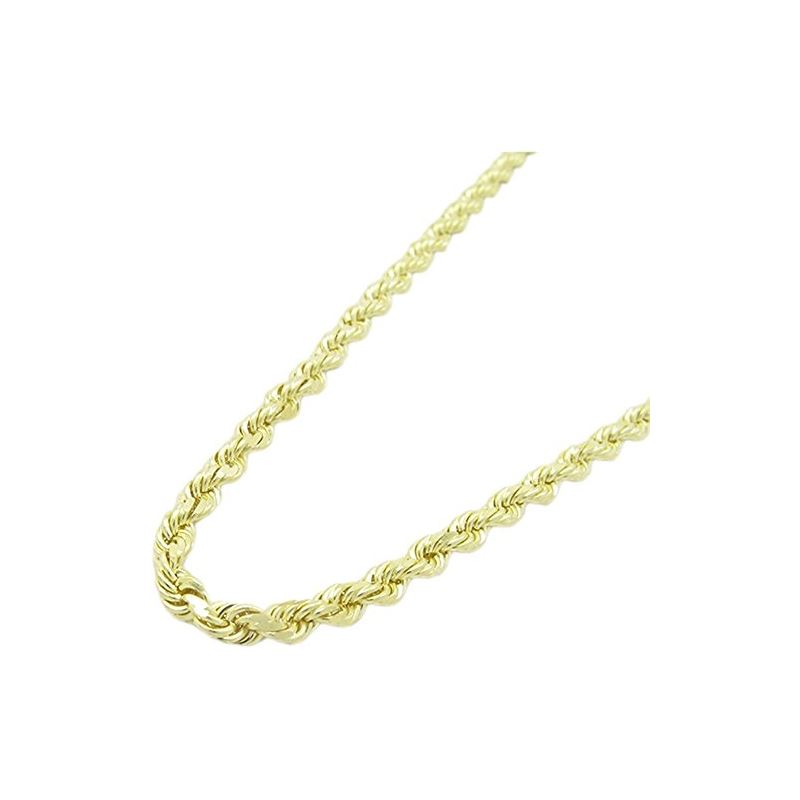 Mens 10k Yellow Gold skinny rope chain E 78023 1