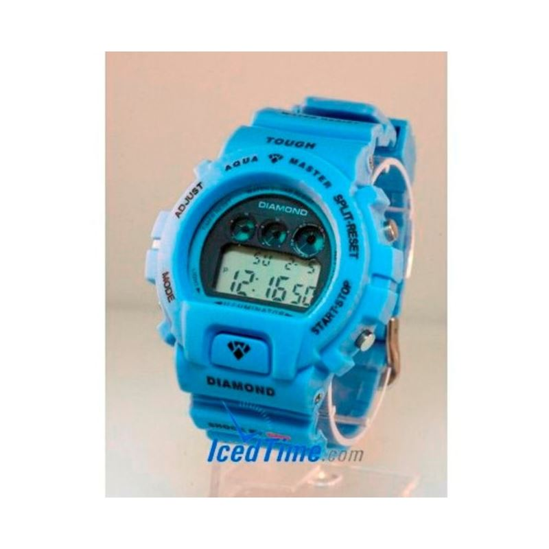 Aqua Master Shock Digital Watch Blue