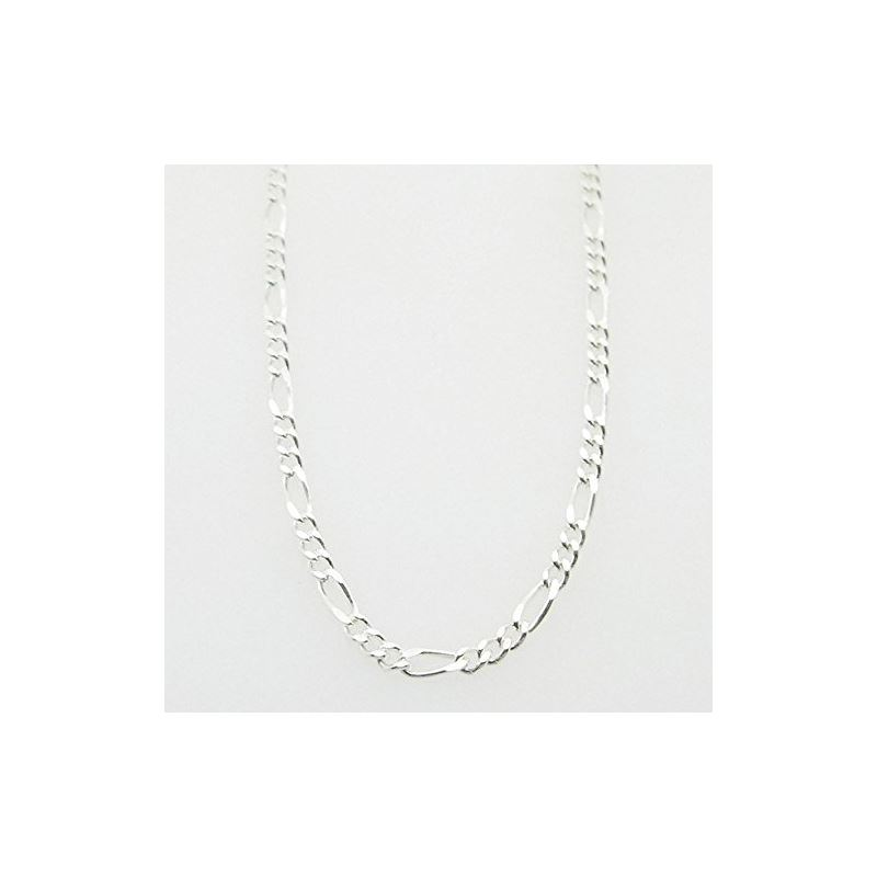 Silver Figaro link chain Necklace BDC71 79621 1
