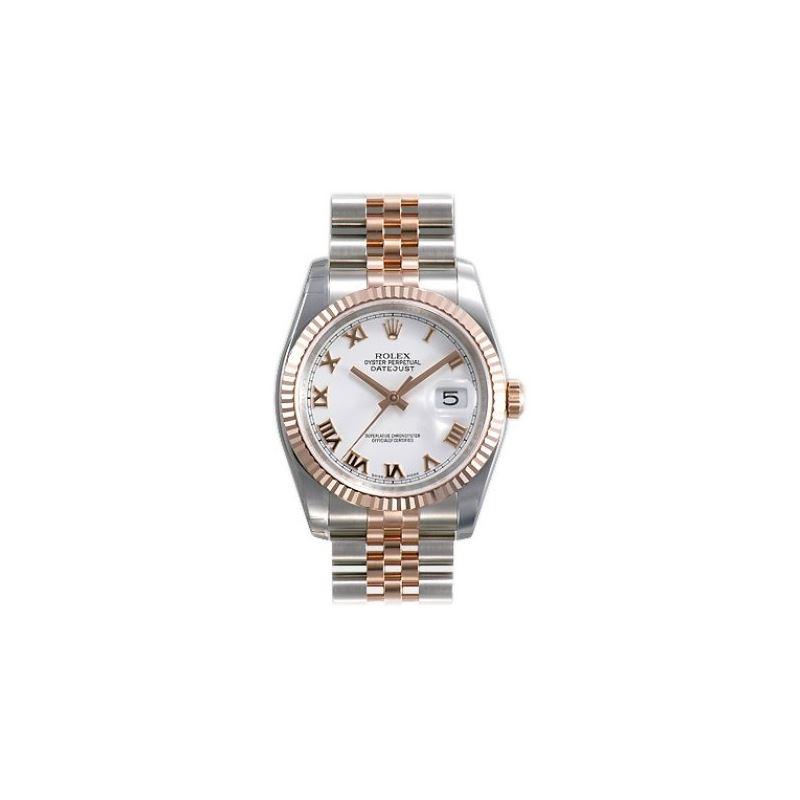 Rolex Datejust White Roman Dial Jubilee Bracelet T