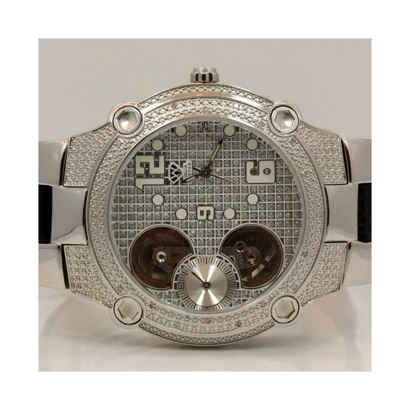 Aqua Master Mens Automatic Diamond Watch 0.20ctw W