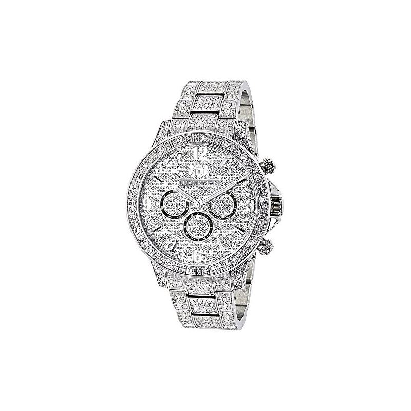 Fully Iced Out Real Diamond Mens Watch Swiss Quart
