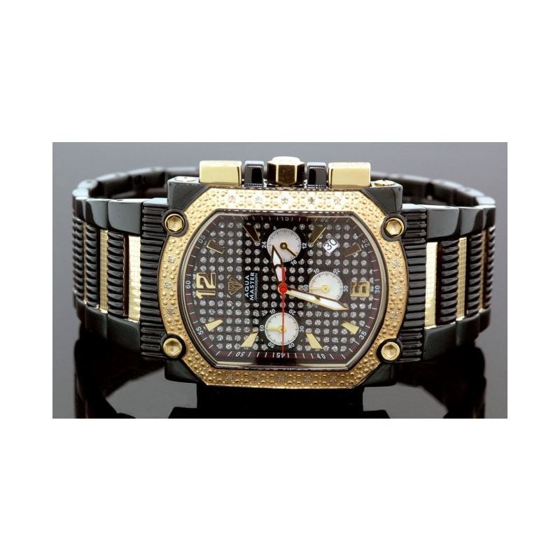 Agua Master 0.16ctw Mens Diamond Watch w 55537 1
