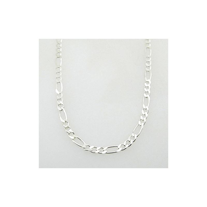 Silver Figaro link chain Necklace BDC84