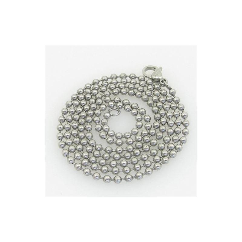 Mens 316L Stainless steel franco box bal 88106 1