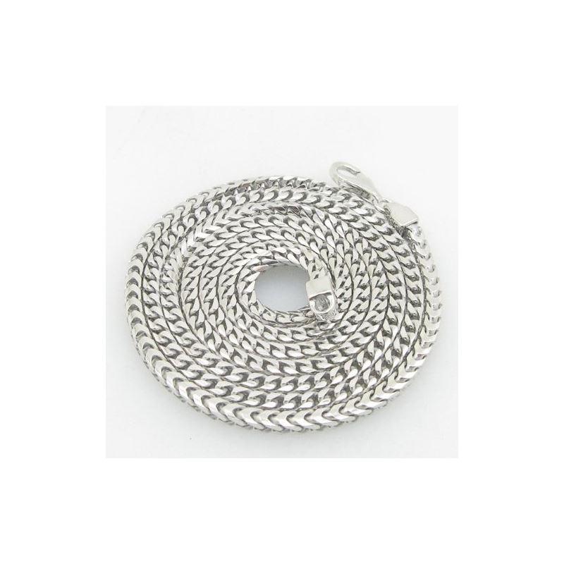 Mens .925 Italian Sterling Silver Franco Link Chai