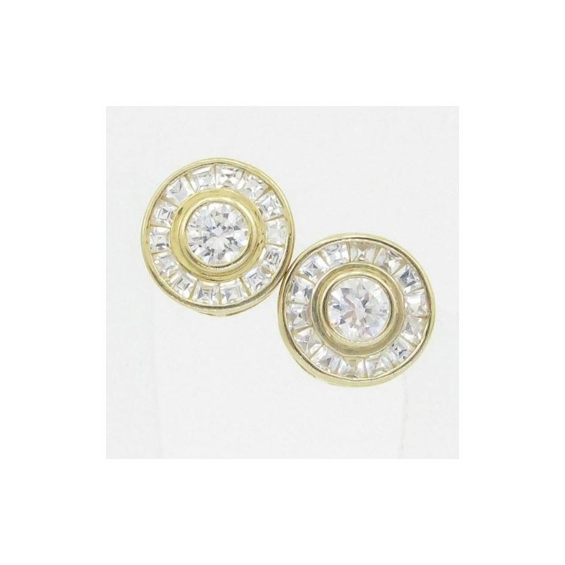 Unisex 14K solid gold earrings fancy stu 82021 1