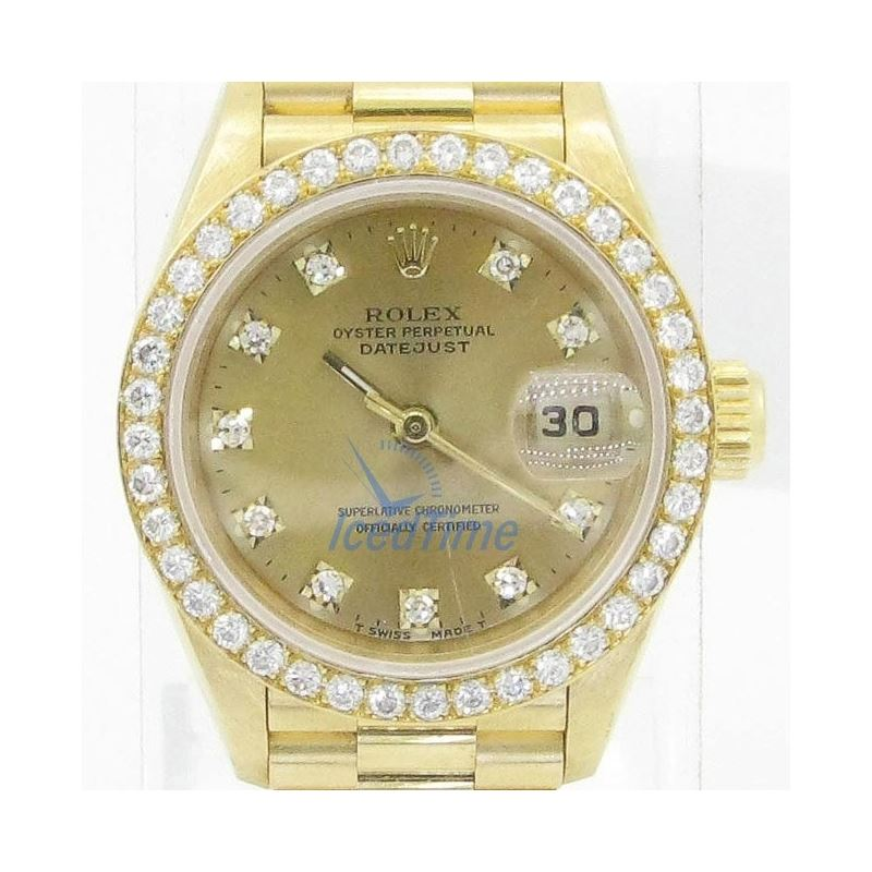 Rolex Datejust Champagne Dial Automatic Yellow Gol