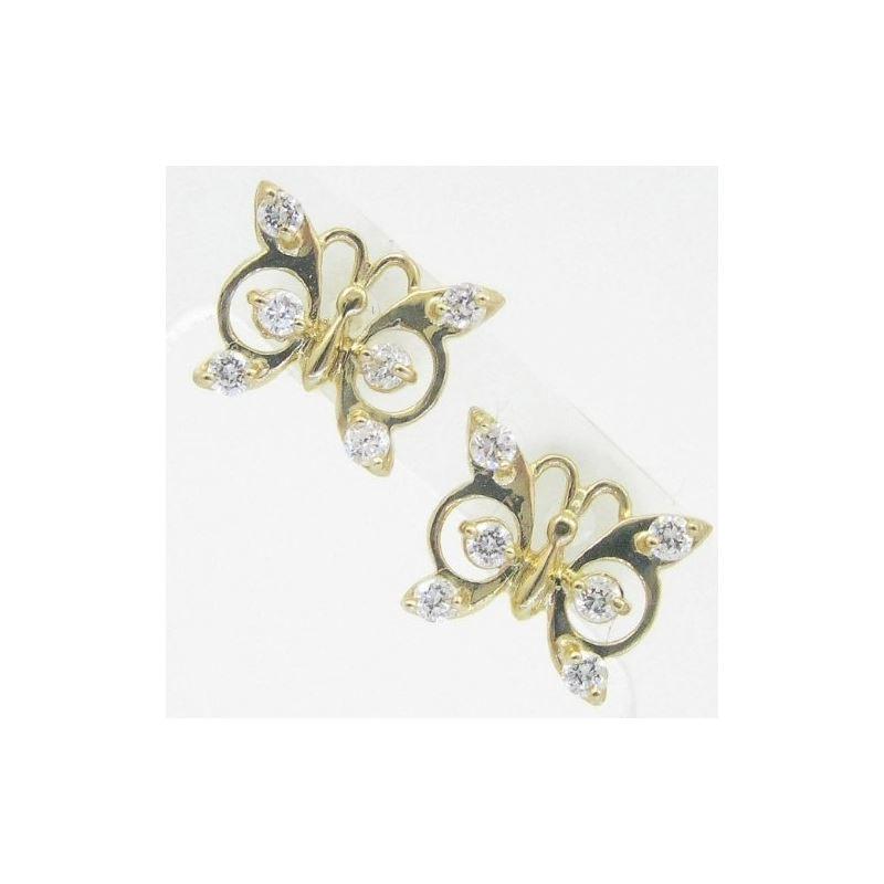 14K Gold Earrings heart star flower dolp 63953 1