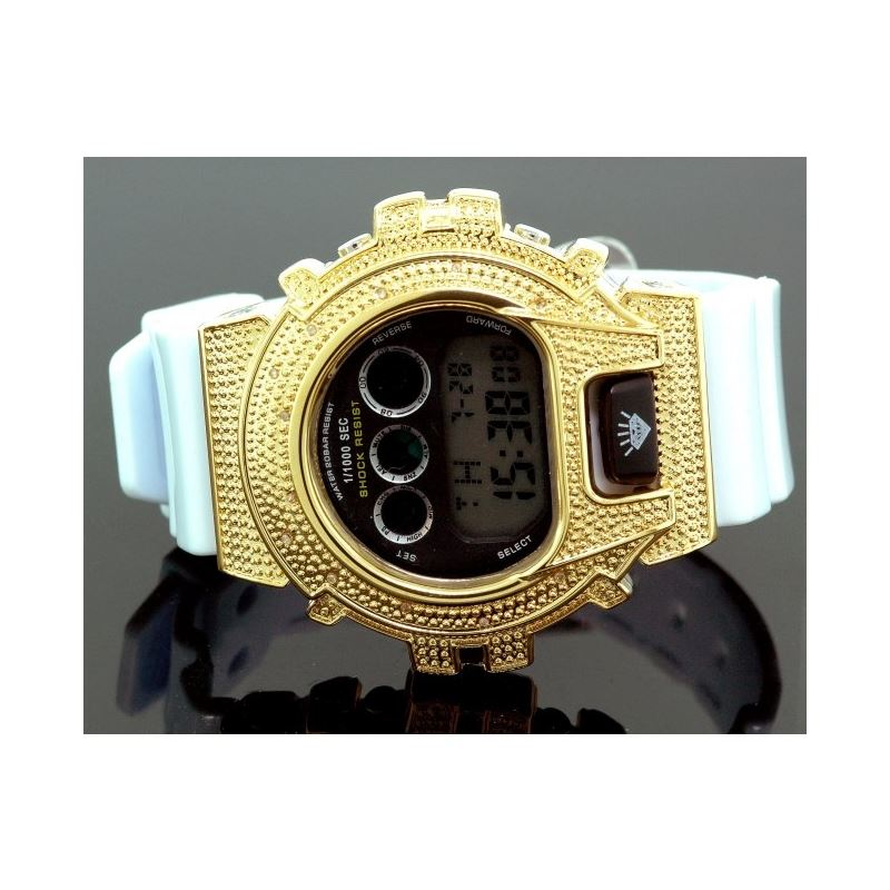 Ice Plus Mens Diamond Shock Style Watch  27768 1