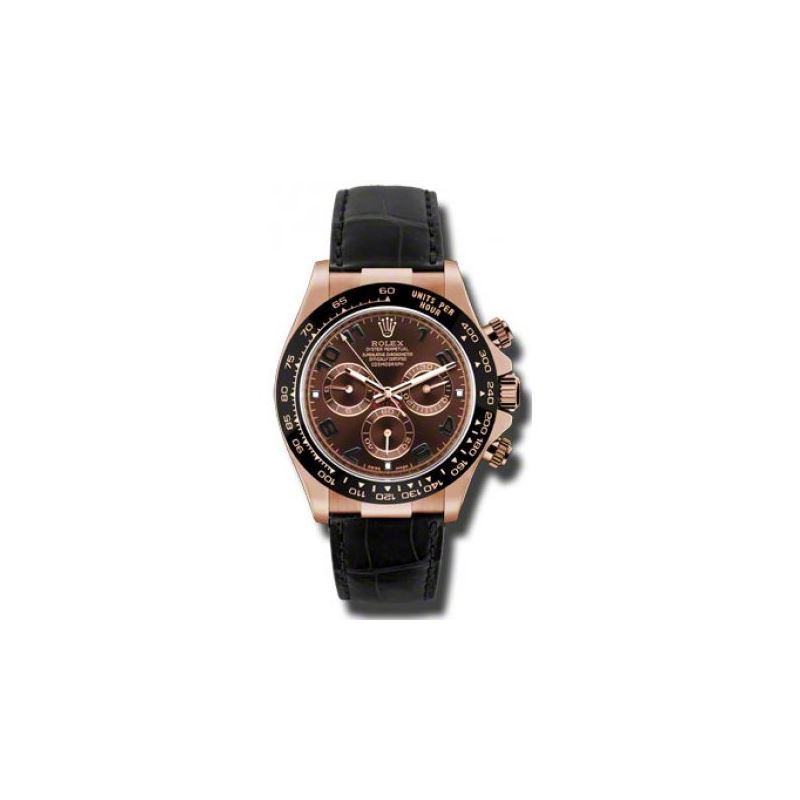 Rolex Watches  Daytona Everose Gold  Leather Strap
