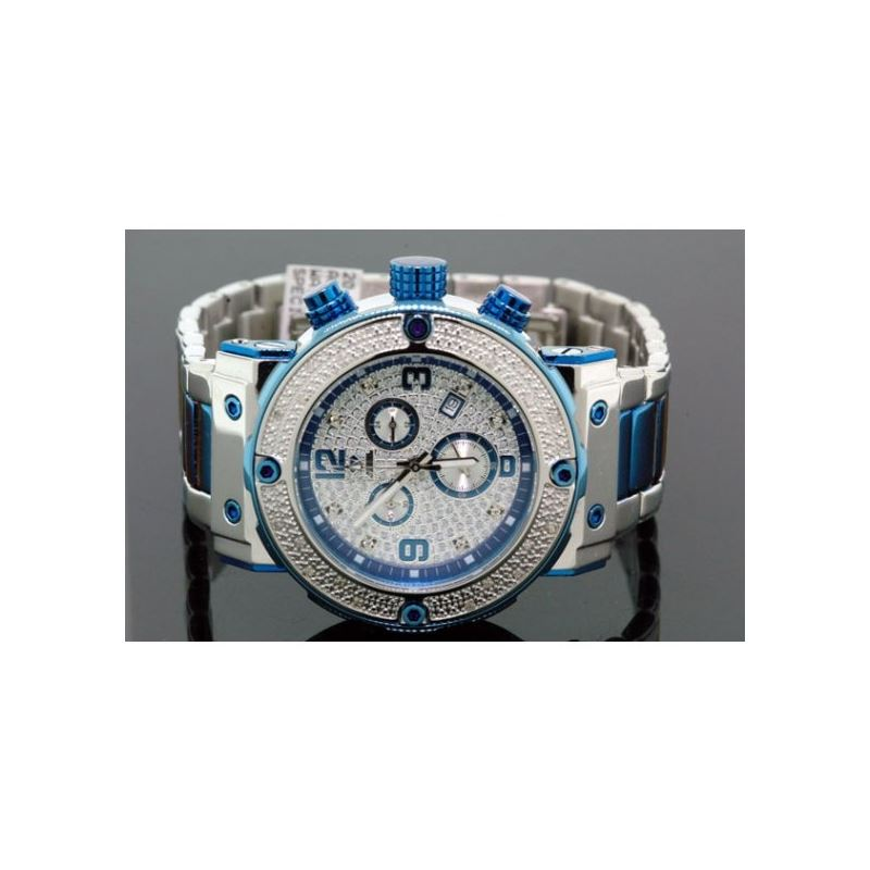 Aqua Master Mens Two Tone Diamond Watch