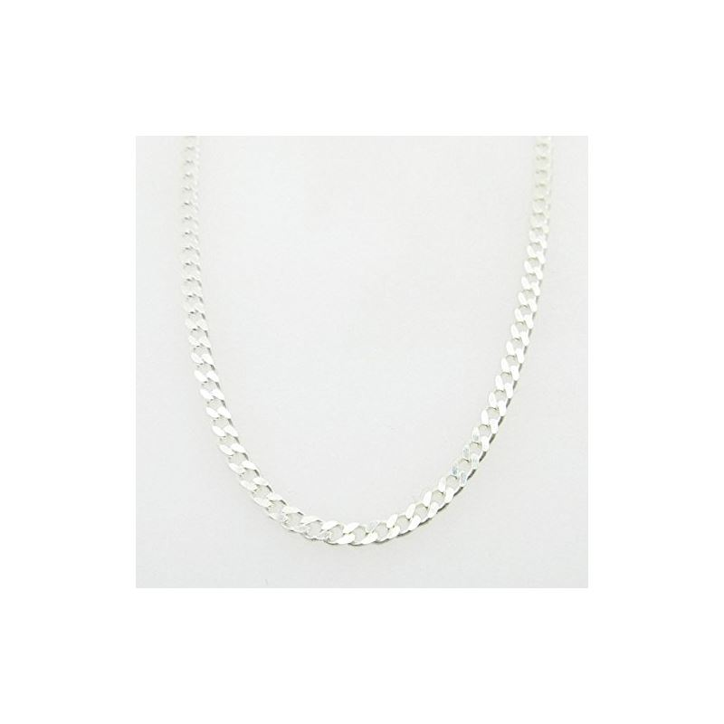 Silver Curb link chain Necklace BDC66