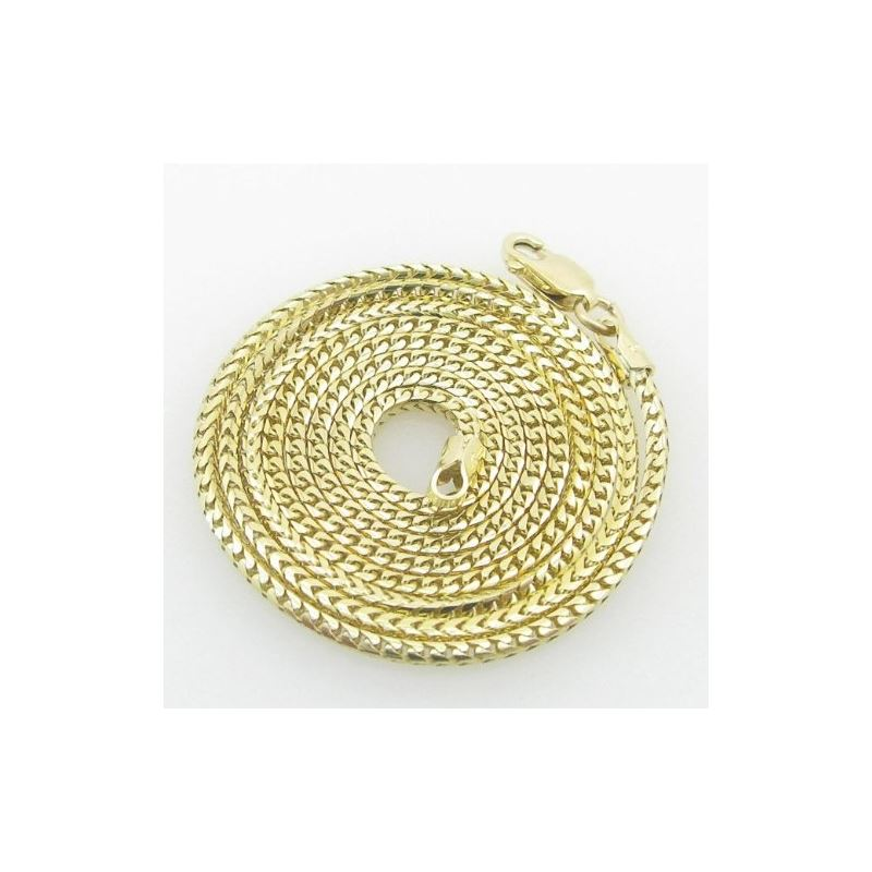 Mens Yellow-Gold Franco Link Chain Length - 20 inc