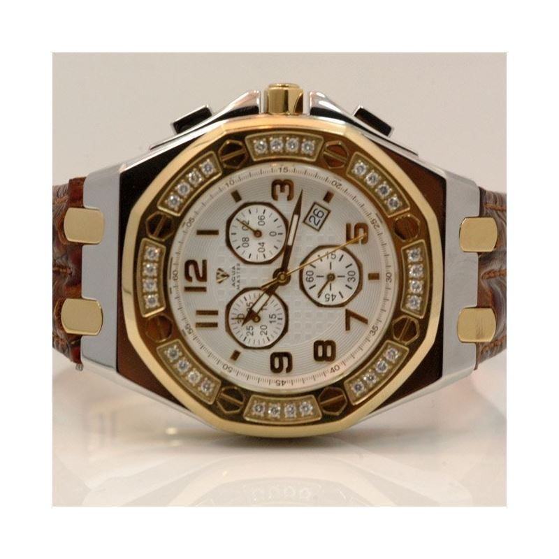 Aqua Master Royal Oak Mens Diamond Watch 1.50ctw W