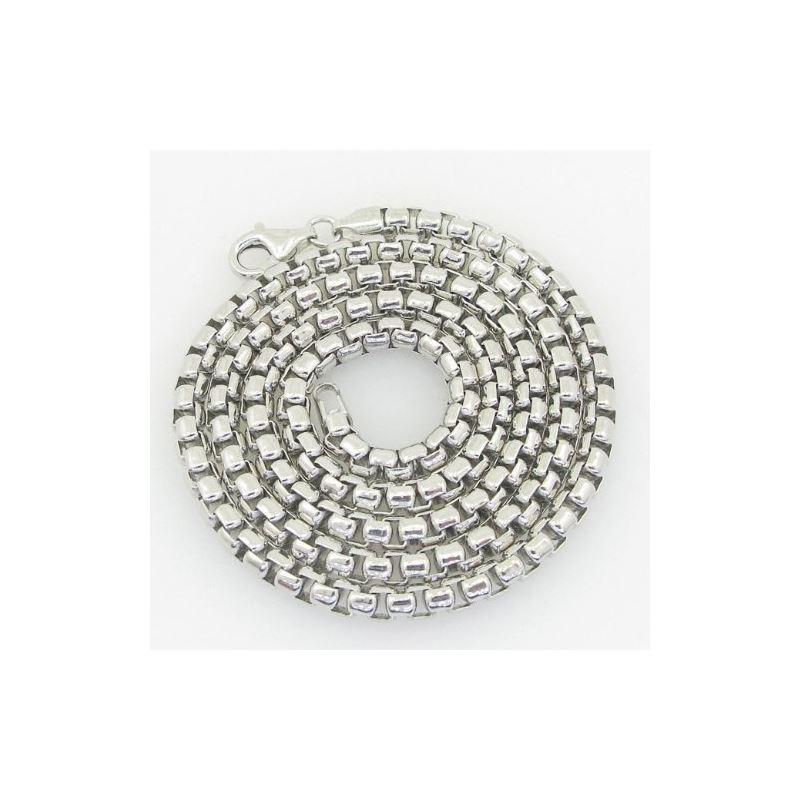 Unisex Italian Sterling Silver Franco Box Ball Whe
