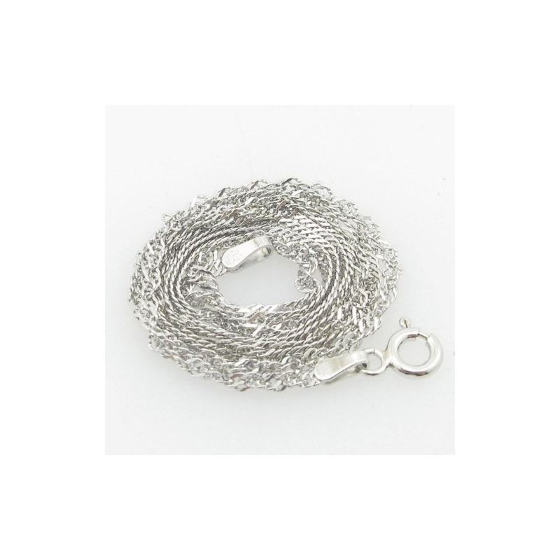 Ladies .925 Italian Sterling Silver Twisted Singap