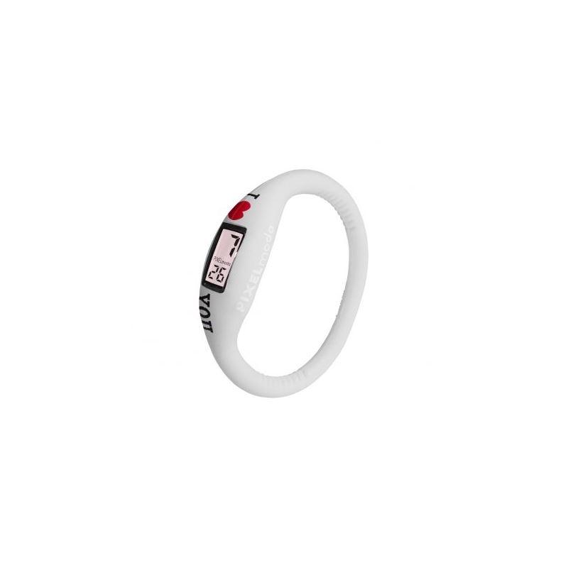 Pixel Moda Ultra Light Digital Unisex Watch White