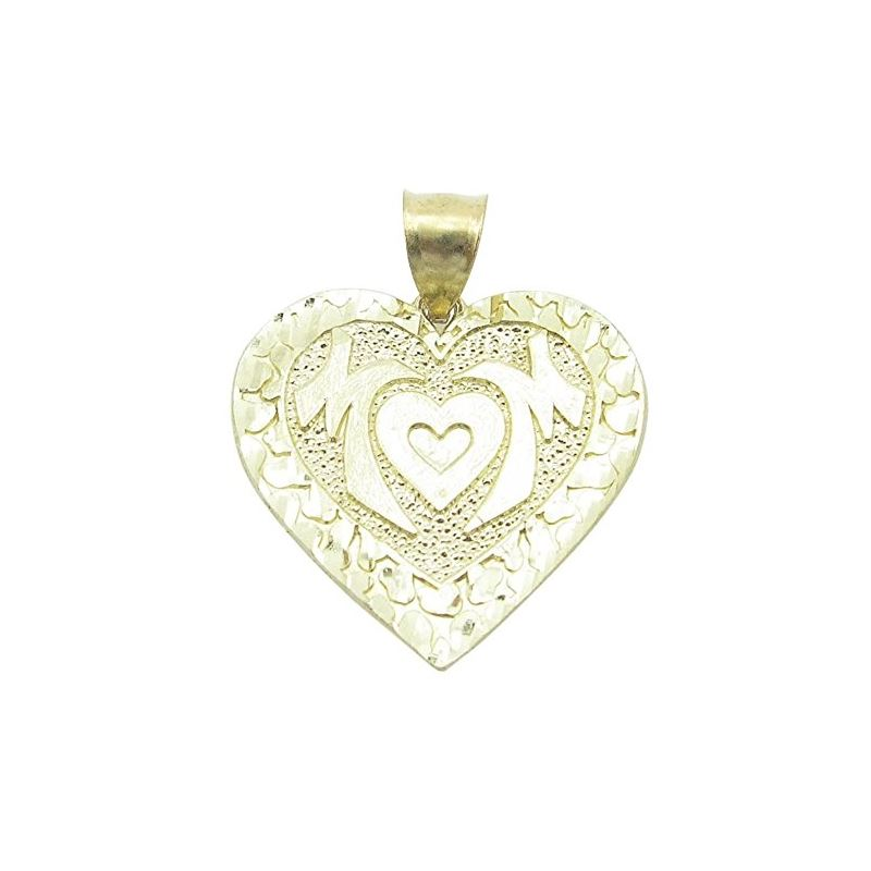 Ladies 10K Solid Yellow Gold mom pendant Length -