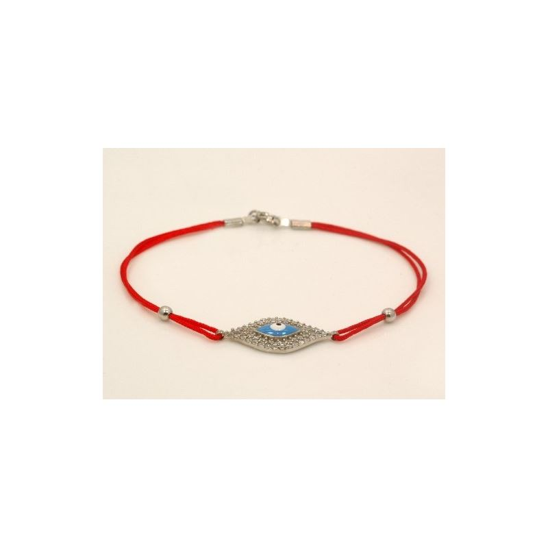 Celebrity Designer Evil Eye Sterling Silver Bracel