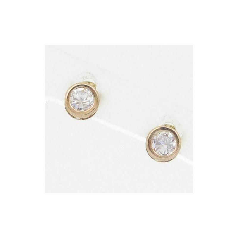 Unisex 14K solid gold earrings fancy stu 81750 1