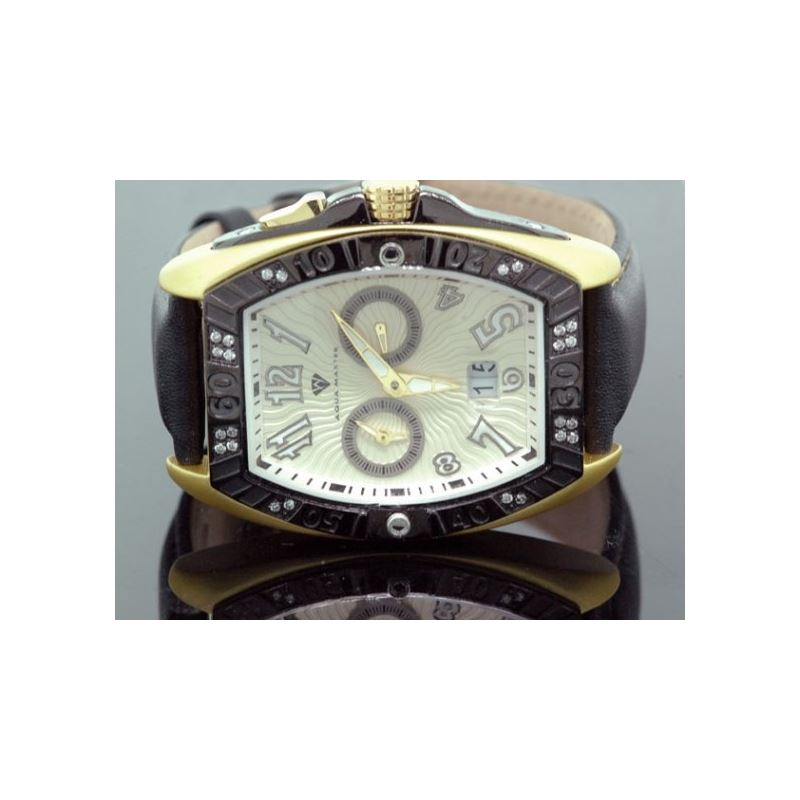 Aqua Master Tonneau 0.50 ct Diamond Mens Yellow Wa