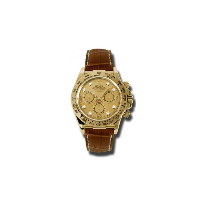 Rolex Watches  Daytona Yellow Gold  Leather Strap
