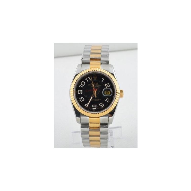 Rolex Datejust Black Jubilee Roman Dial Jubilee Br