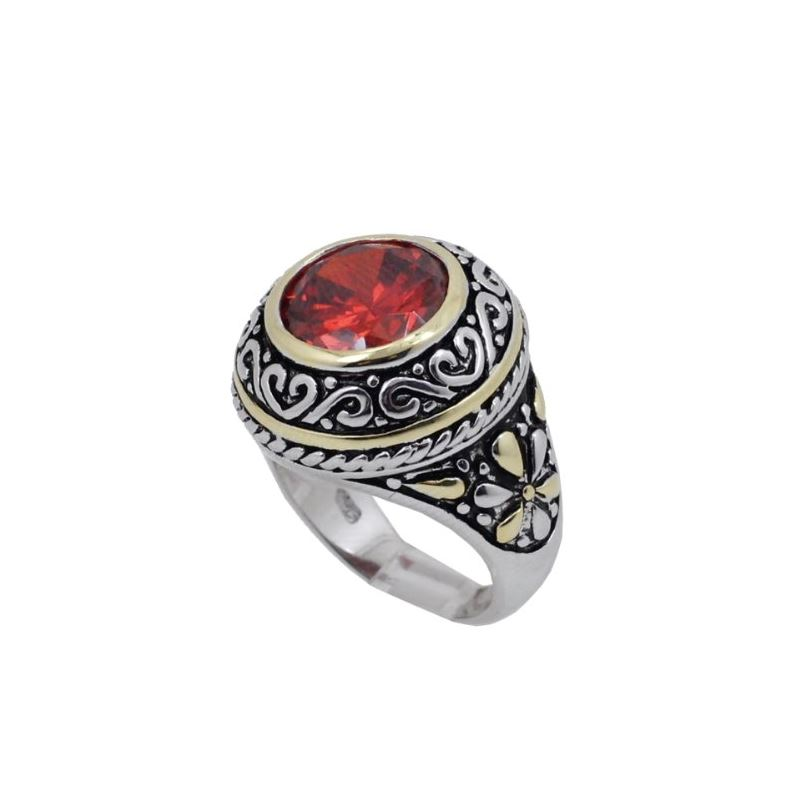 Ladies .925 Italian Sterling Silver Ruby 74187 1