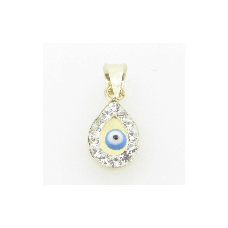 Womens bp111 kabbalah evil eye 14k solid yellow go