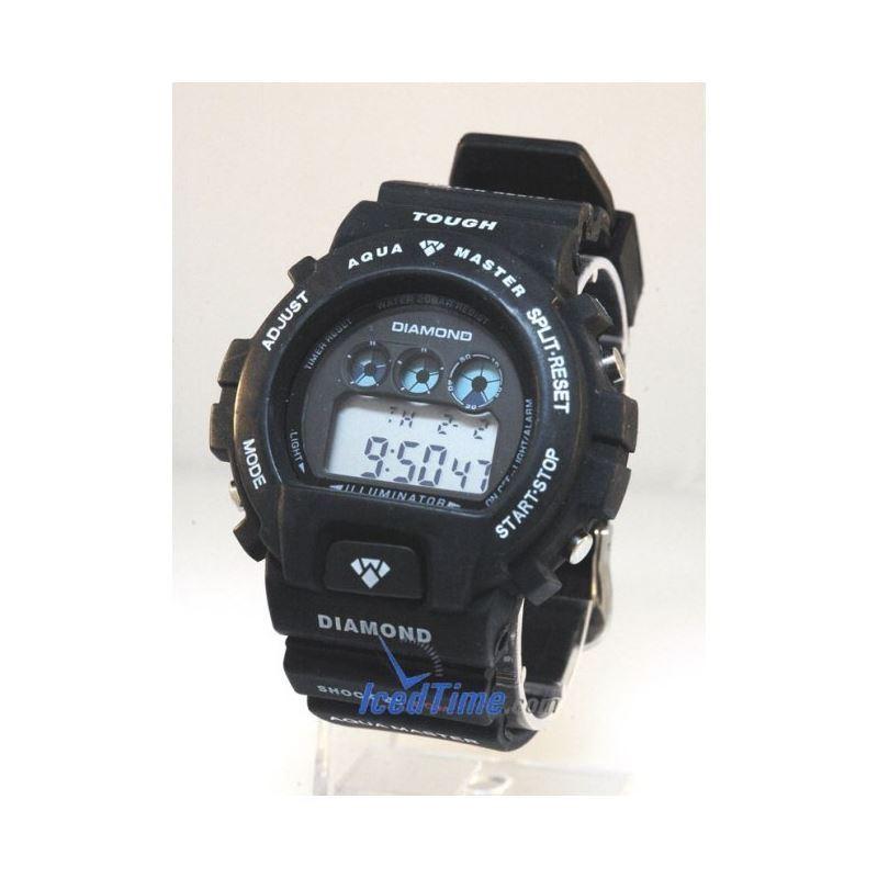 Aqua Master Shock Digital Watch Black