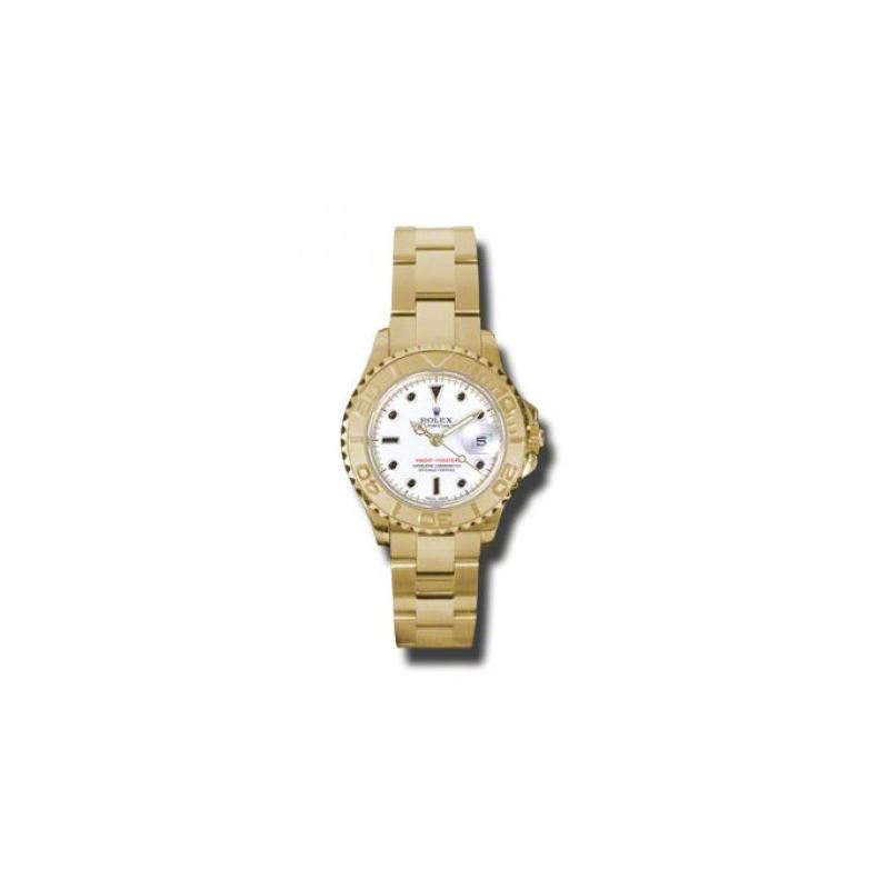 Rolex Watches  YachtMaster Lady Gold 169628 w