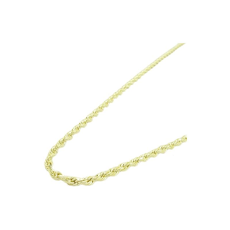 Mens 10K Yellow Gold Skinny Rope Chain Elnc30 22 A
