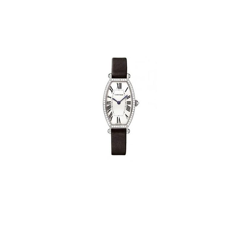 Cartier Tonneau 18kt White Gold Diamond  55050 1