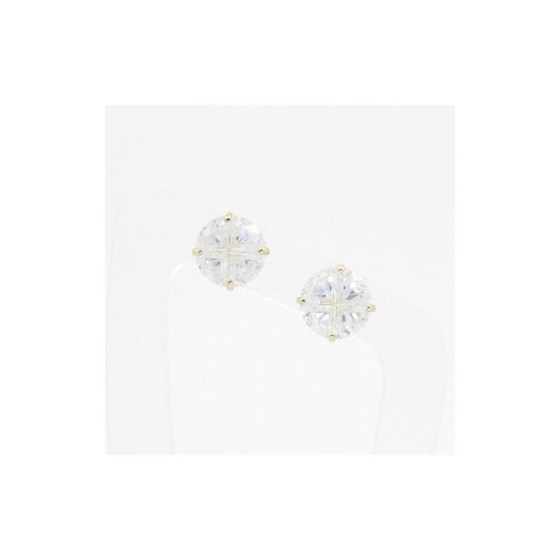 Unisex 14K solid gold earrings fancy stu 81680 1