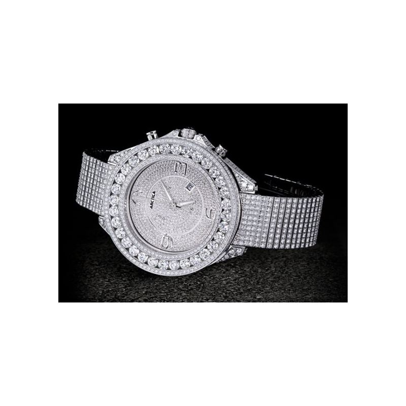 Arctica Watches Arctica 57mm Diamond Case 45.70ct