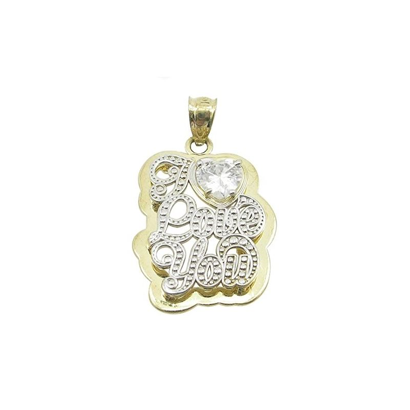Ladies 10K Solid Yellow Gold I love you  87740 1