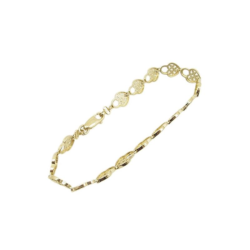 Women 10k Yellow Gold link vintage style 83049 1