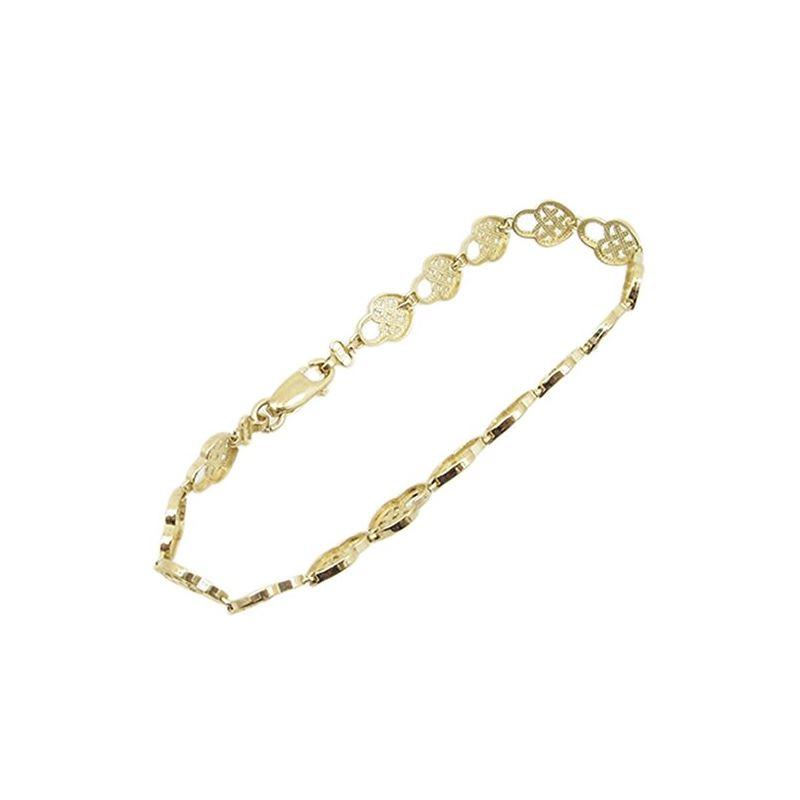 Women 10k Yellow Gold link vintage style bracelet