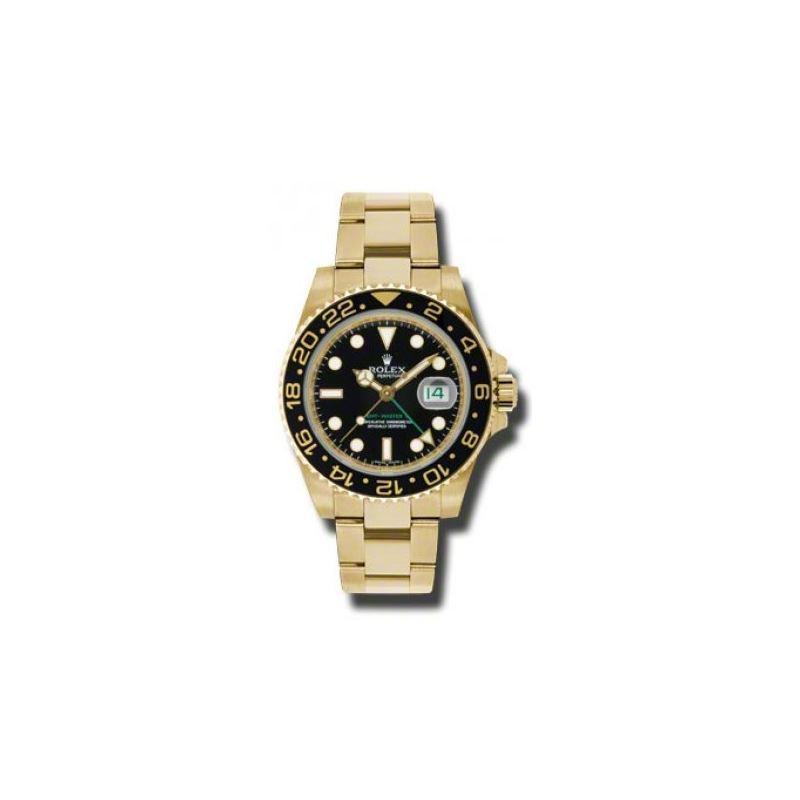 Rolex Watches  GMTMaster II Gold 116718 bk