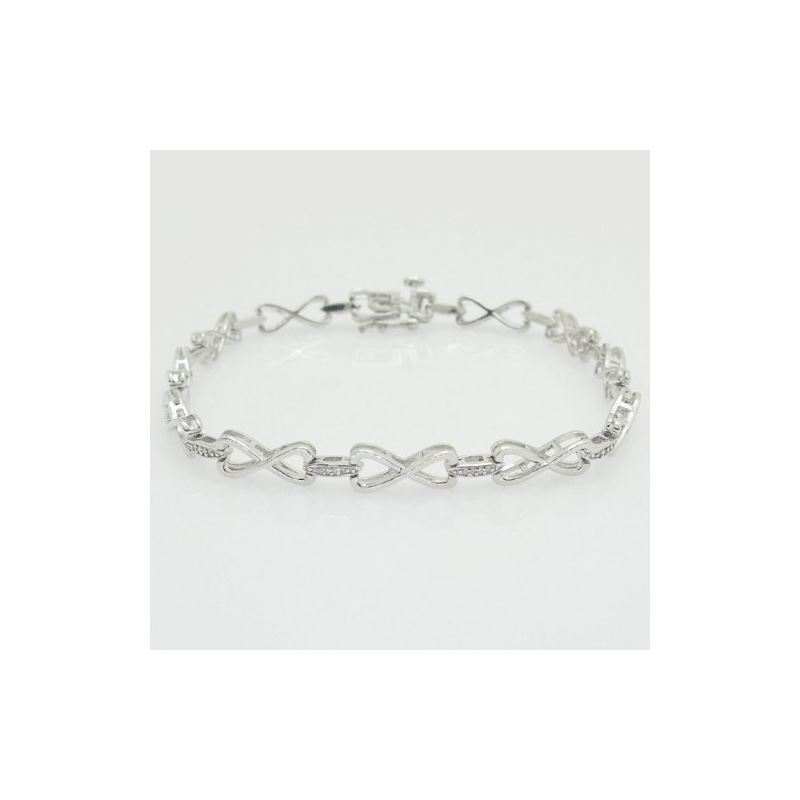 Ladies 0.15ctw Diamond Tennis Bracelet B 74711 1