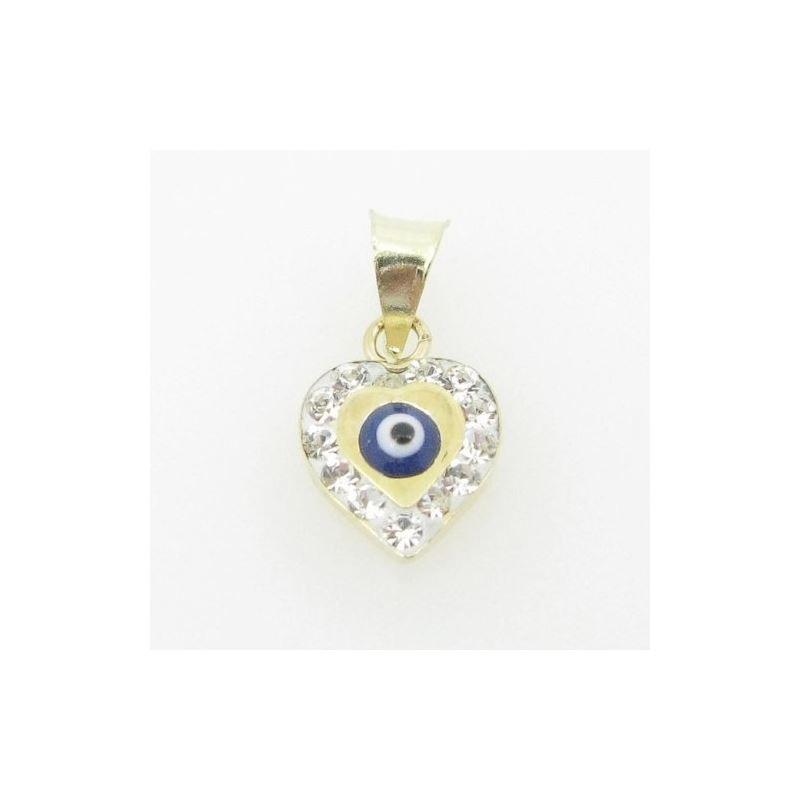 Womens BP126 Kabbalah Evil Eye 14K Solid Yellow Go