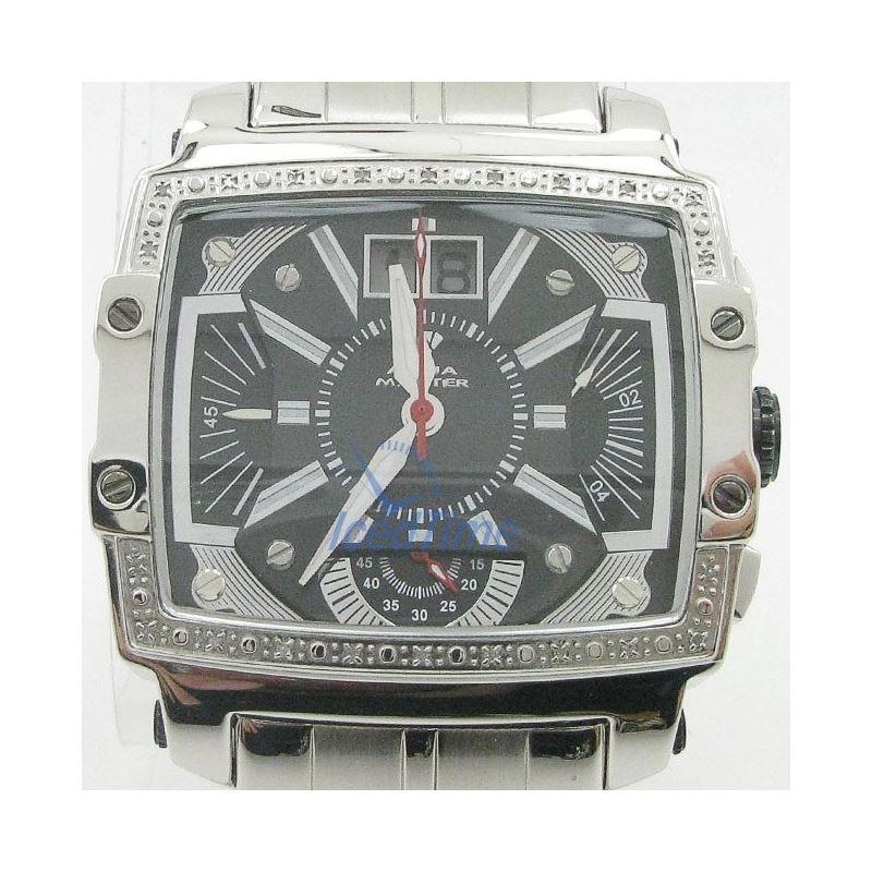 Mens Aqua Master Iced Out Diamond Watch  50678 1