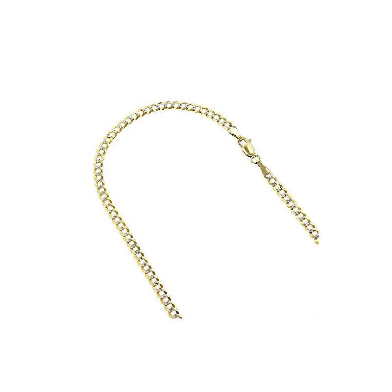 Mens Yellow-Gold Cuban Diamond Cut link  79102 1