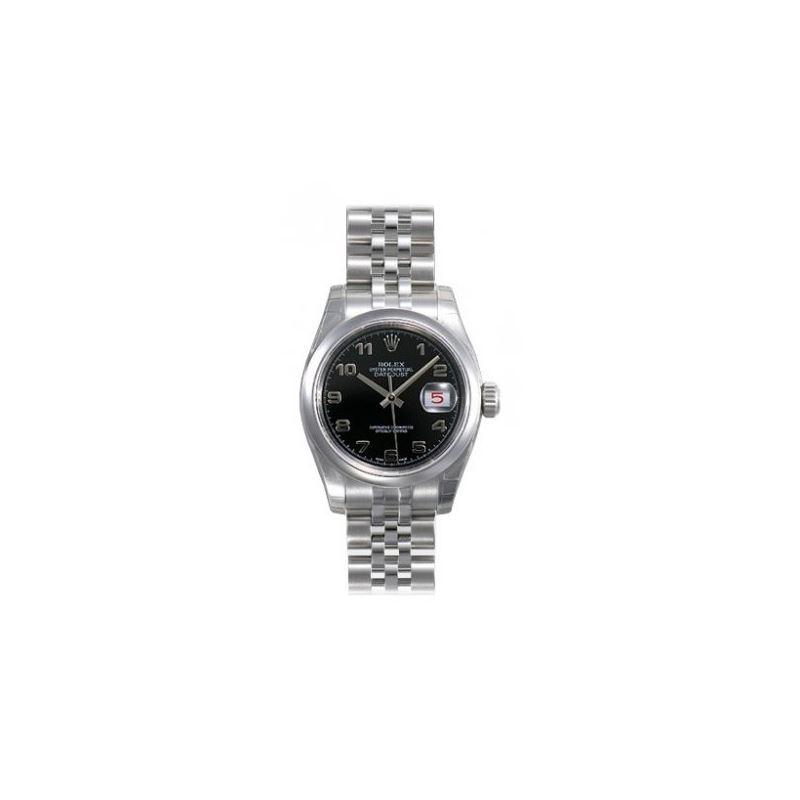 Rolex Datejust Black Arabic Dial Jubilee Bracelet